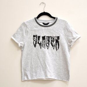 NWT Slayer Embroidered Logo Shirt Size Extra Small